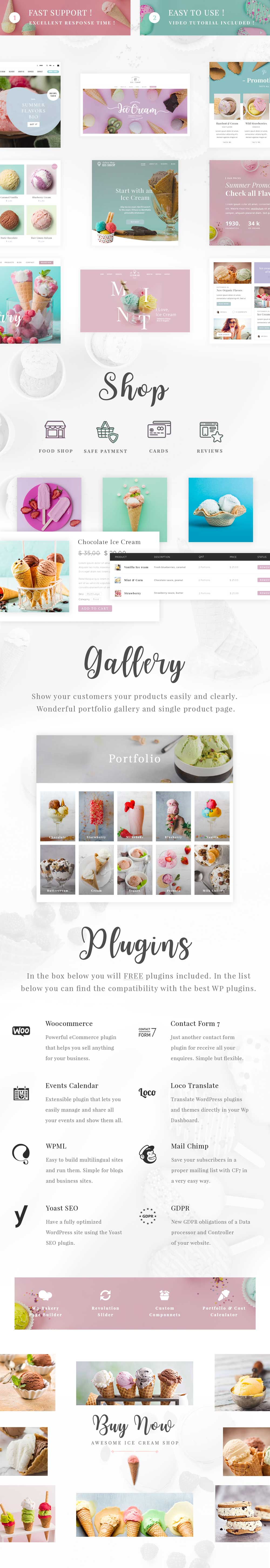 Eis - Ice Cream Shop WordPress Theme - 1