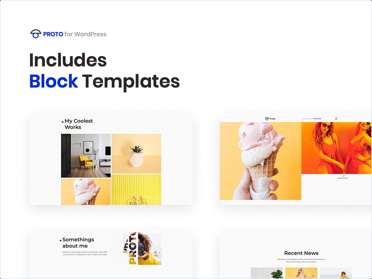 Proto – Photographer Portfolio Template Kit by merkulove | ThemeForest