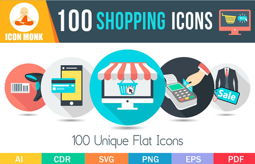100 Shopping Icons
