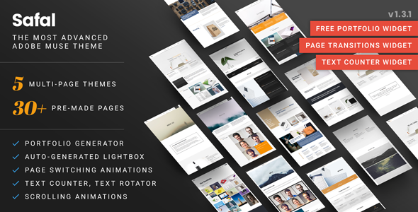Samarth: Fully Responsive Creative Multipurpose Muse Theme by VMS