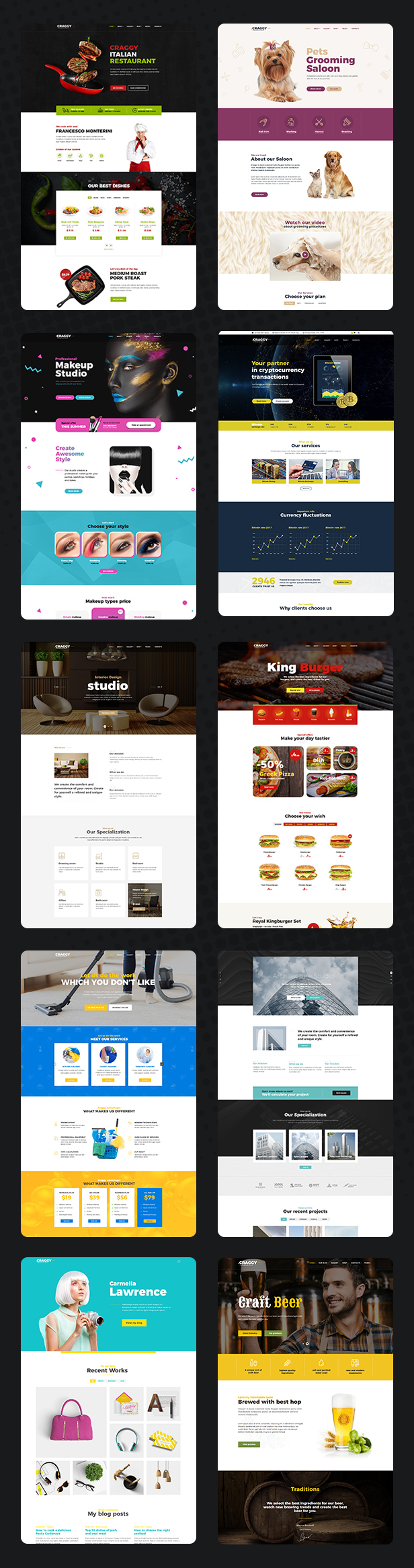 Craggy - Food Delivery, Services & Bitcoin Crypto Currency Multi-purpose WordPress Theme - 6