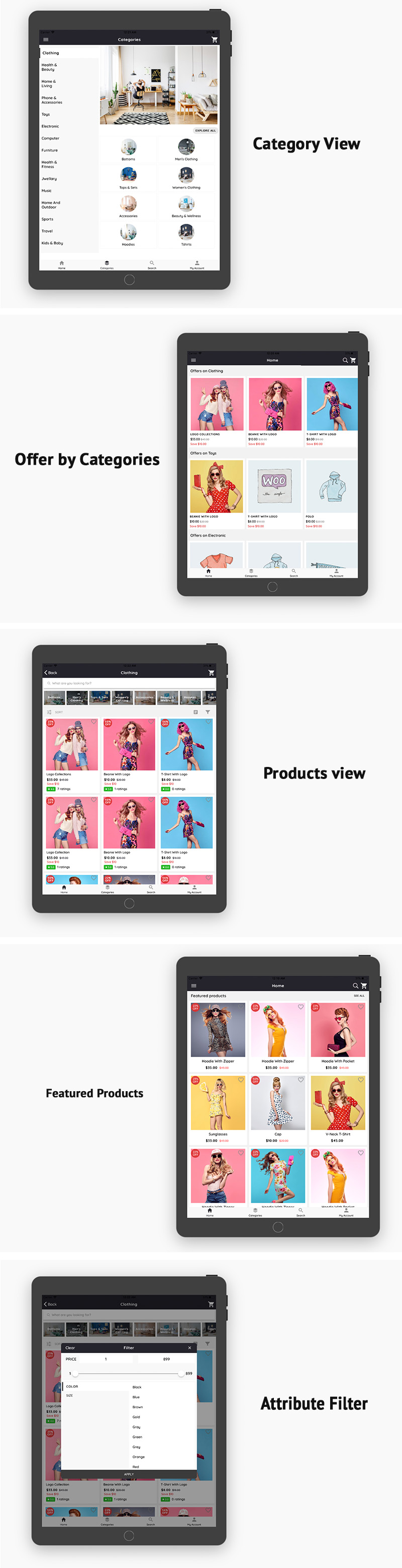 WooCommerce Mobile App ionic full application Lifestyle theme - 9