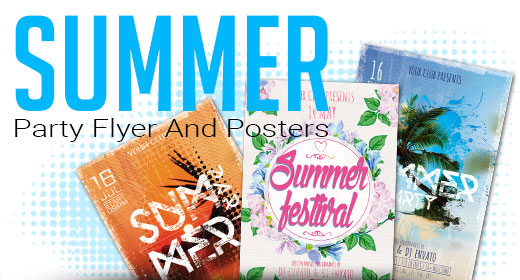 Summer Party Flyer And Posters