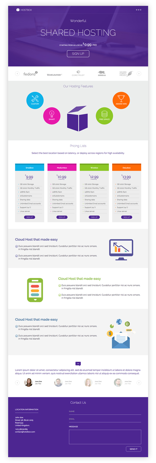 Hostbox WHMCS & HTML5 Landing Page - 3