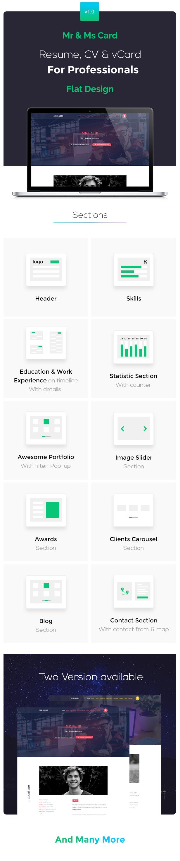 Creative Cv / Resume / Card HTML5 Template - 1