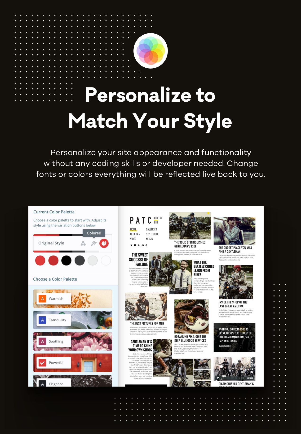 Personalize to Match Your Style