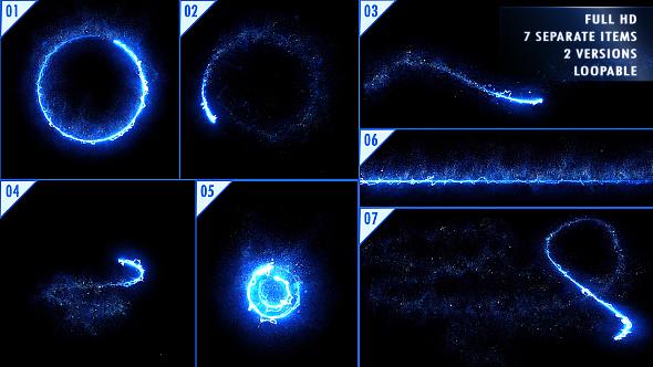 视频素材-50个魔法能量发光线条纹粒子素材包 Elegant Light Streaks With Particles插图2
