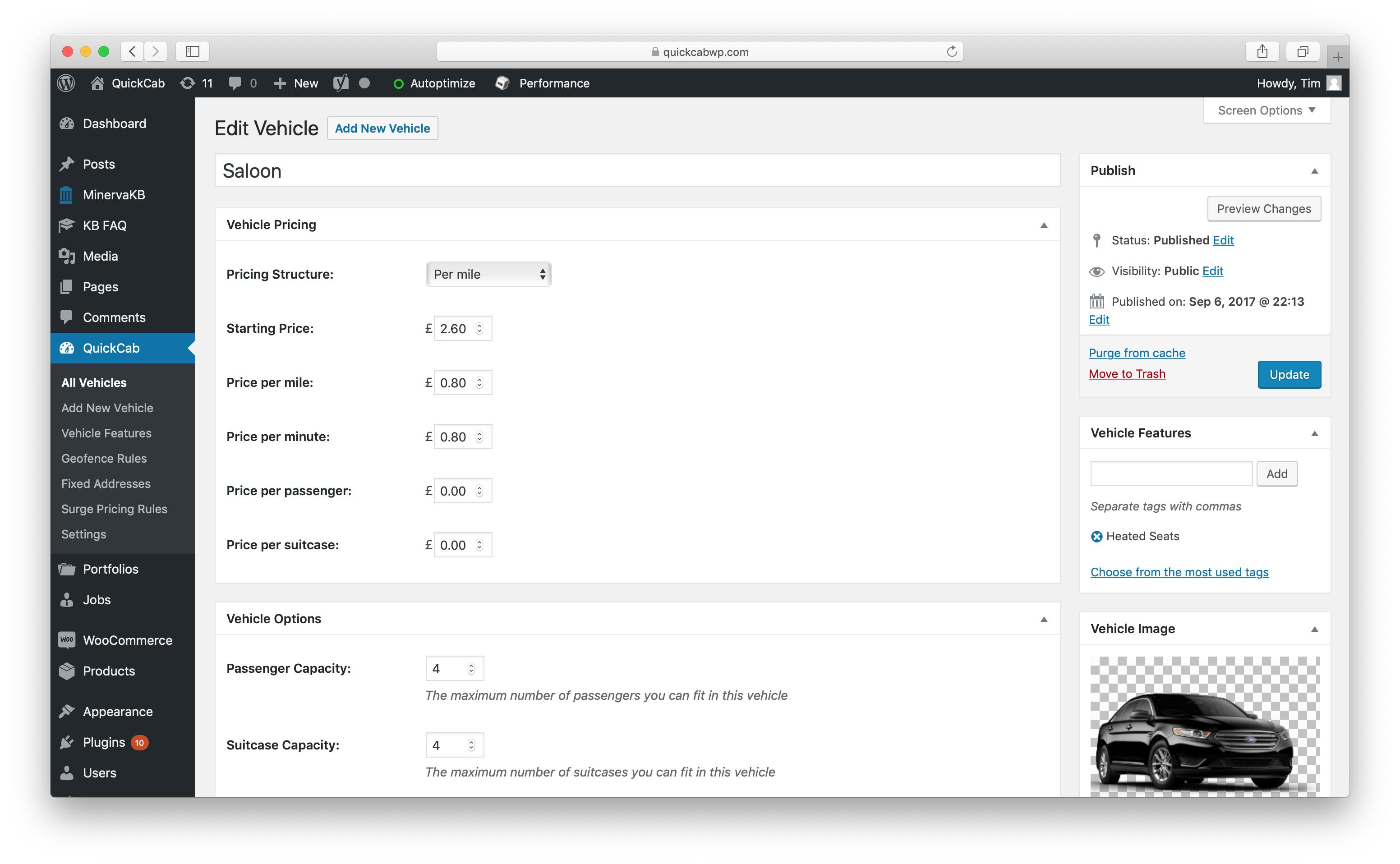 QuickCab: WooCommerce Taxi Booking Plugin - 1