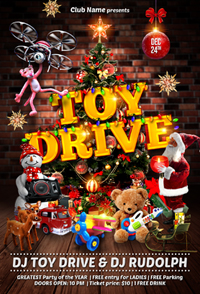toy drive flyer template by gugulanul graphicriver