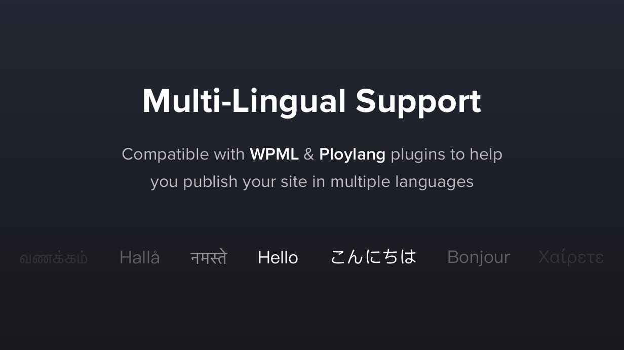 Translatable & Multi-Lingual
