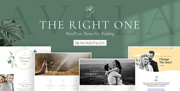 Avala - Wedding WordPress Theme - Wedding WordPress