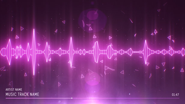 SoundVisible Audio Spectrum Visualizer | Linear Spikes Template | Color Preset: Charm