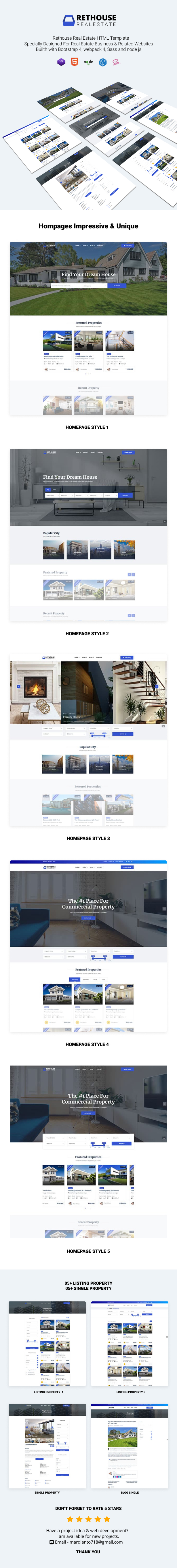 Rethouse - Real Estate Html template