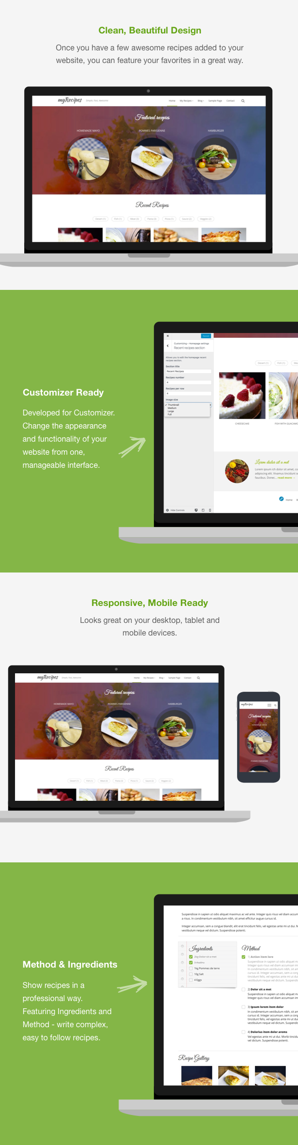 Myrecipes recipes wordpress theme by toptheme themeforest it features method and ingredients approaches which comes very handy for your visitors to easily follow your recipes forumfinder Choice Image