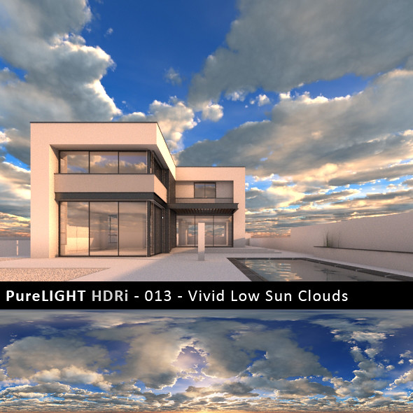 PureLIGHT HDRi 013 - Vivid Low Sun Clouds