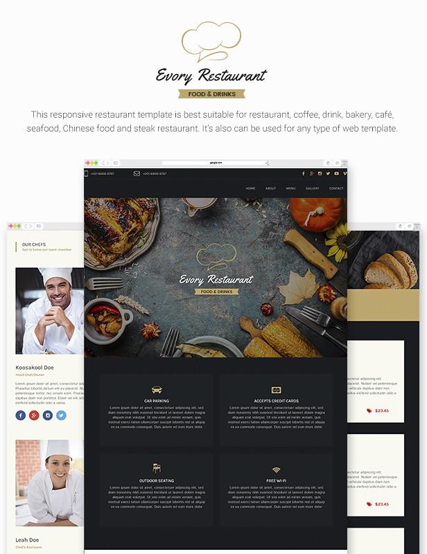 Evory - Responsive Restaurant Adobe Muse Template - 7