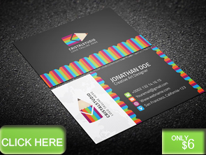 Colorful Art Business Card - 17
