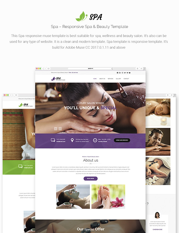 spa responsive spa beauty template by maximustheme themeforest