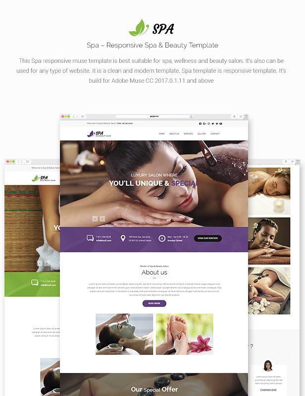 Spa - Responsive Spa & Beauty Template - 7