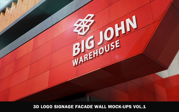 3D Logo Modern Wall Sign Mock-Ups Vol.1 - 6