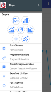 Android Material Design Template with Mobile App components for Graphs, Reports and Analytics - 1