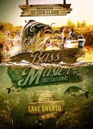 Design Cloud: Bass Masters Flyer Template