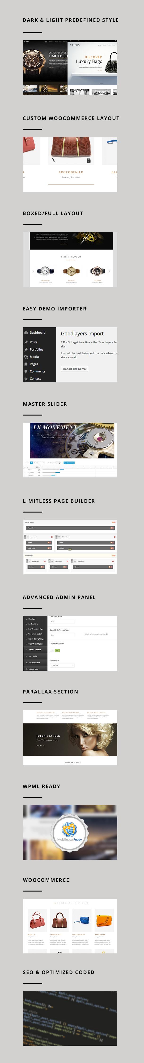 The Luxury - Dark / Light Responsive WordPress - 1
