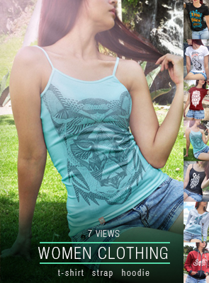 5 Woman T-shirt Mock-up Street Version - 4
