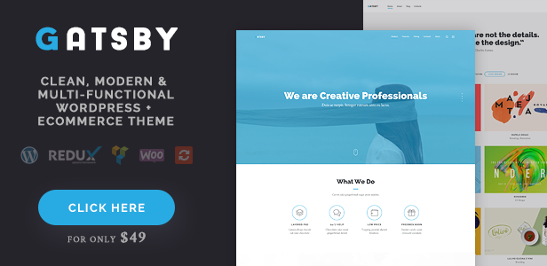 Gatsby - Business, Consulting, Agency, App Showcase, Portfolio HTML ...
