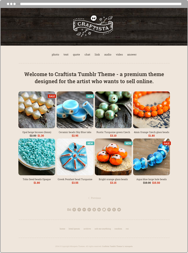 Craftista Homepage
