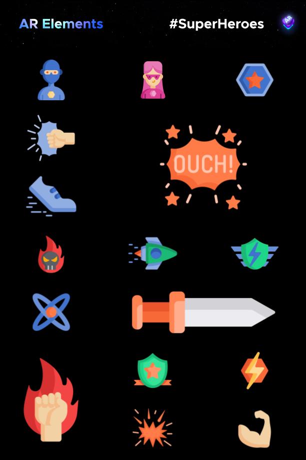 AE脚本-500多个人工智能高科技科幻HUD元素RGB光束烟雾描边效果AR动画工具包 AR Tools for Win/Mac破解版 V3插图27
