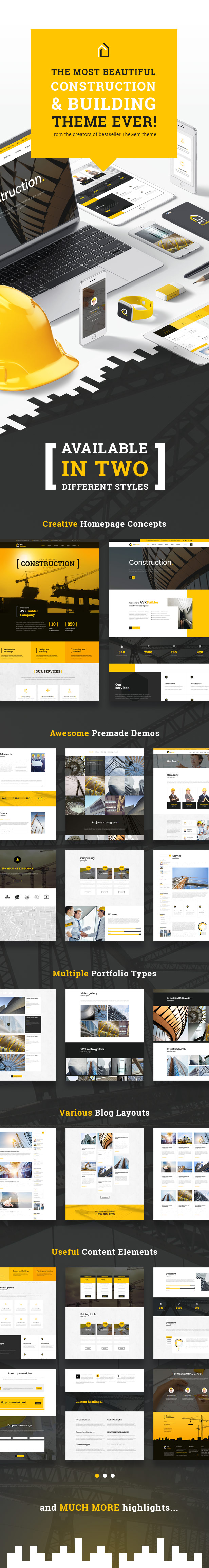 AVXBuilder - Construction Business WordPress Theme - 1