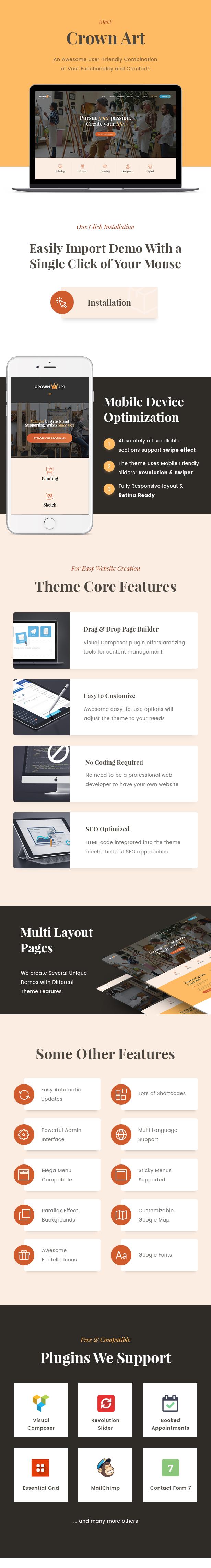 Crown Art   Arts School WordPress Theme - 1