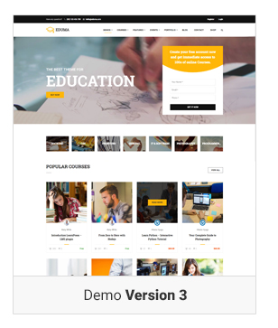 Education WordPress theme - Demo 3