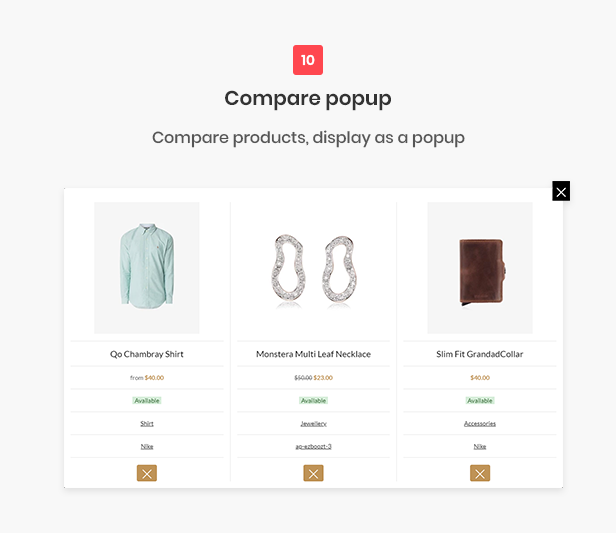 All-in-one shopify theme - compare popup