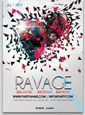 Ravage Flyer Template Technno