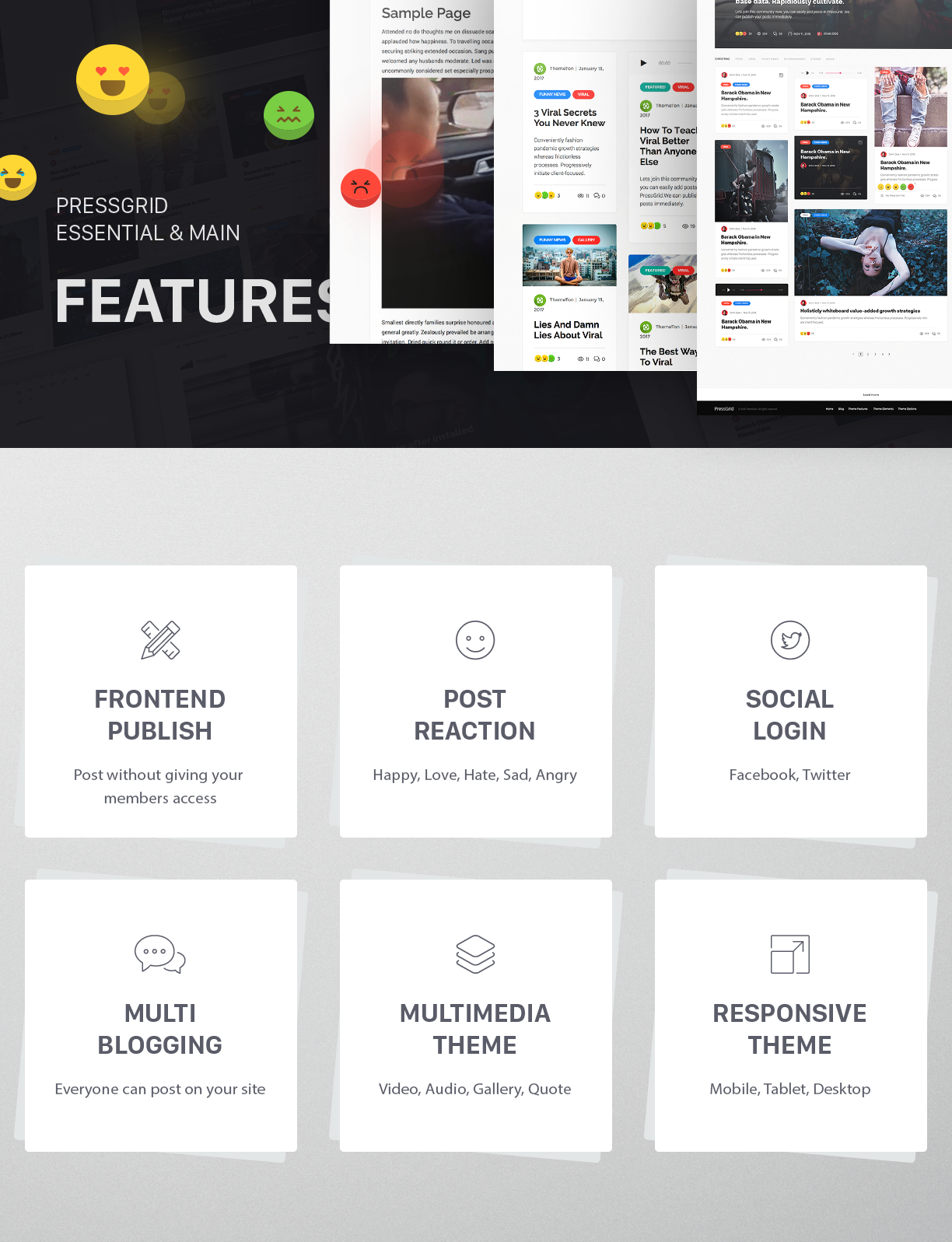 PressGrid Multi User theme