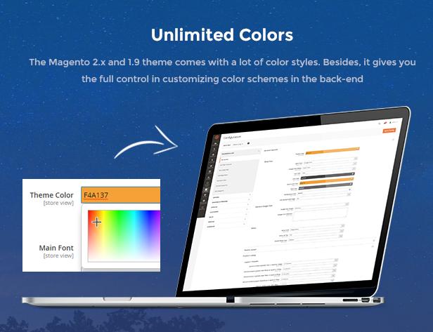 Market - Premium Responsive Magento 2 & 1.9 Store Theme - Color Presets