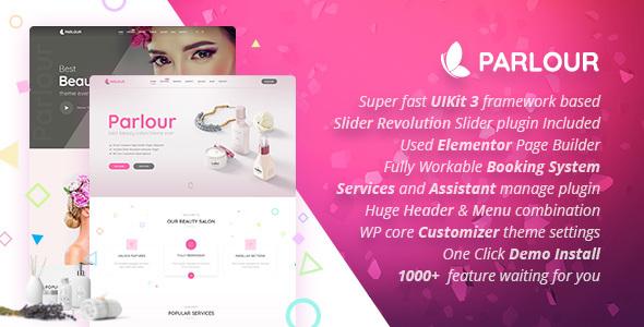 Parlour - Dedicated Beauty Salon WordPress Theme - Health & Beauty Retail