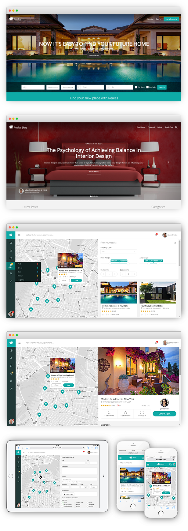 Reales - Real Estate Web Application Template - 1
