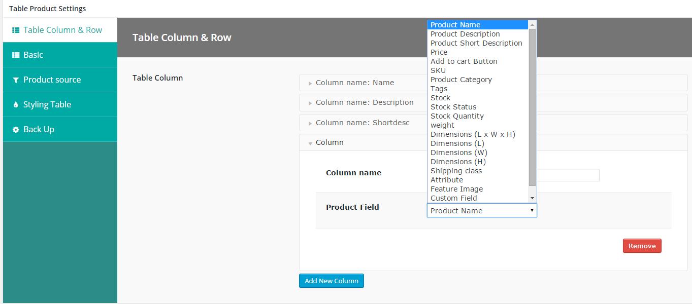 WooCommerce - 5 için ürün varyasyonlarını tabloda görüntüle