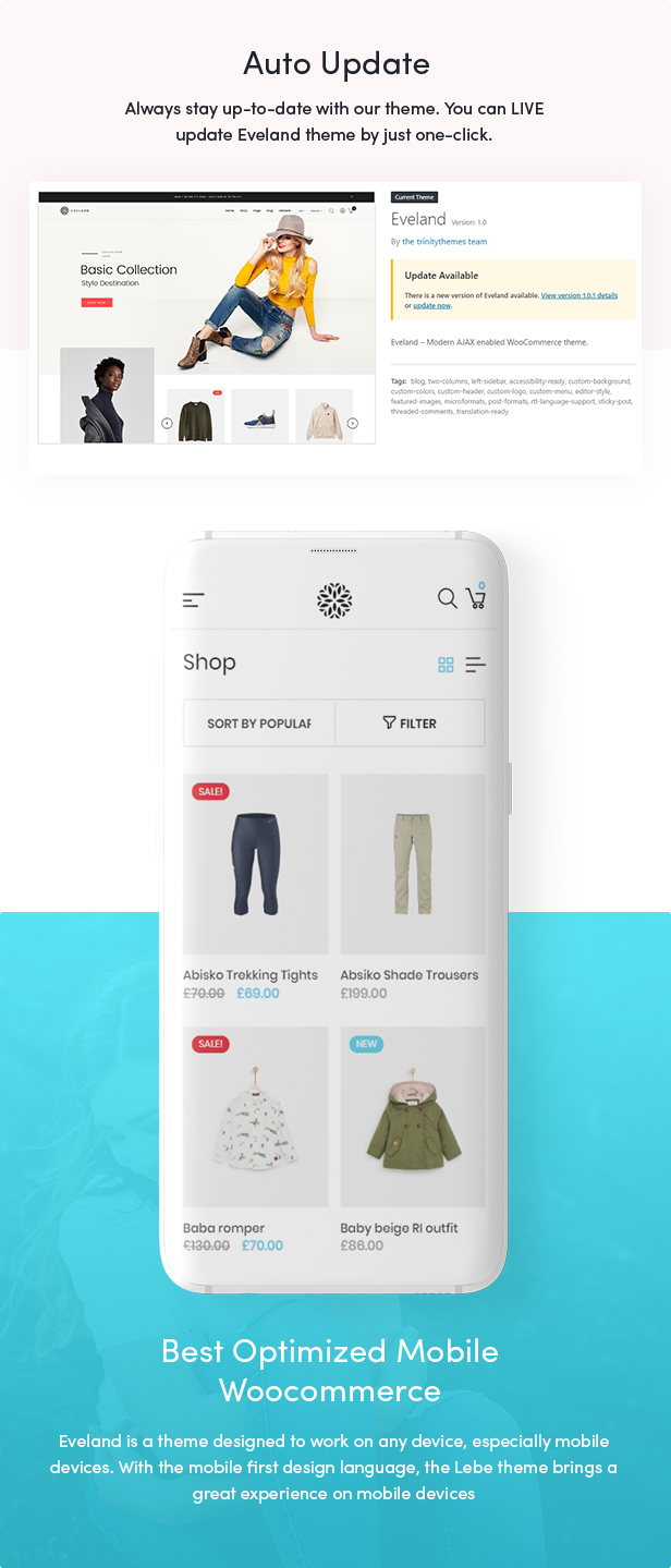 Eveland – Modern AJAX enabled WooCommerce theme (RTL Supported) 50