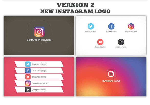 Follow us on social media 4 style by ouss videohive for Follow us on instagram template