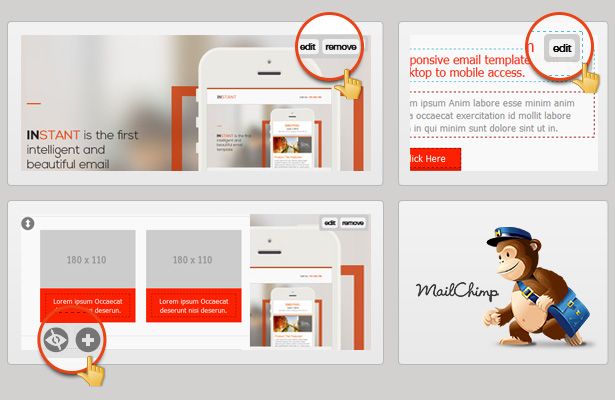 Instant Business Responsive Email Template By Smythemes ThemeForest - Drag and drop mailchimp templates