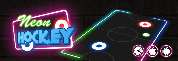 neon hockey html5 game