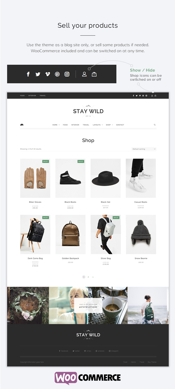 Stay Wild - A Clean Lifestyle Blog & Shop Theme - 8