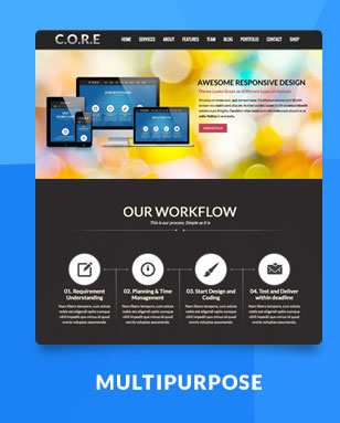 Core One - Multipurpose One Page Theme - 5
