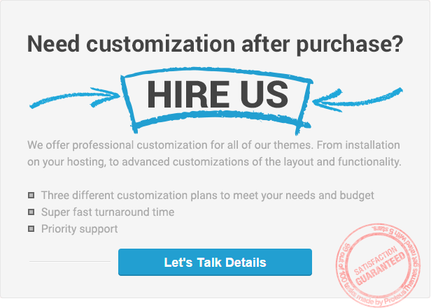 ProteusThemes professional customization