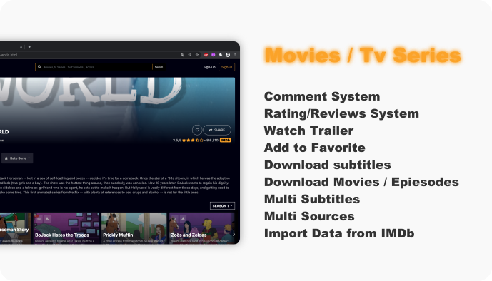 WebFlix - Movies - TV Series - Live TV Channels - Subscription - 9