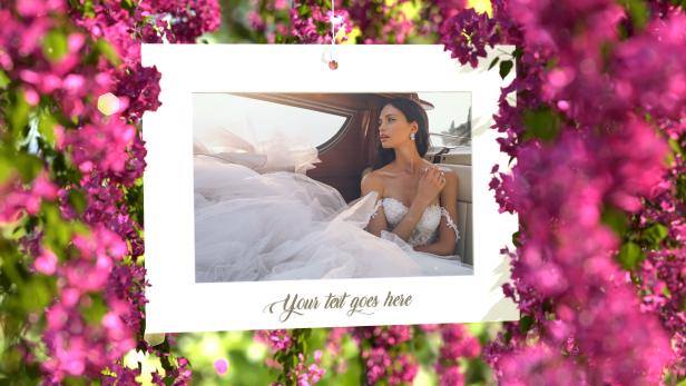 Pink Flowers Wedding Slideshow - 4